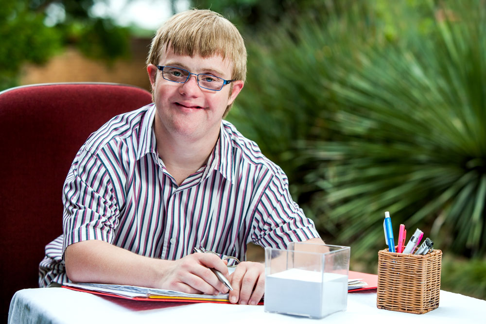 Boy with Downsyndrome